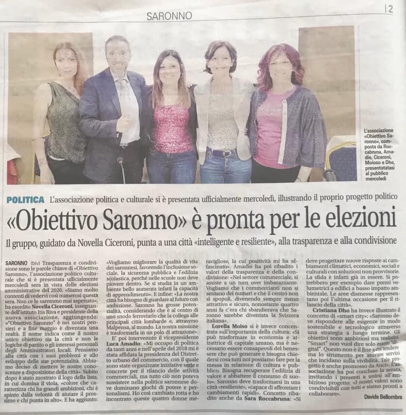 @La Settimana__OBIETTIVO SARONNO E' PRONTA PER LE ELEZIONI