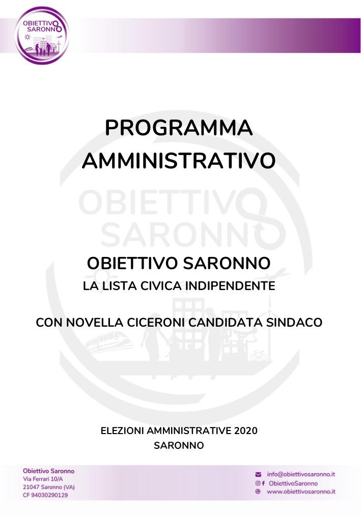 Il nostro programma amministrativo per la città
