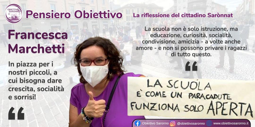 """Francesca Marchetti: """"La scuola è come un paracadute, funziona solo Aperta"""""""