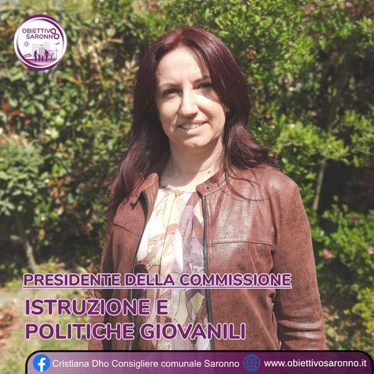 Cristiana Dho Presidente della Commissione Istruzione e Politiche Giovanili